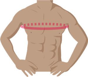胸囲の測り方